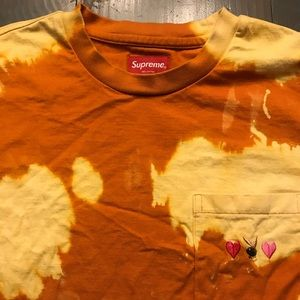 Custom Bleached Supreme Playboy T-Shirt